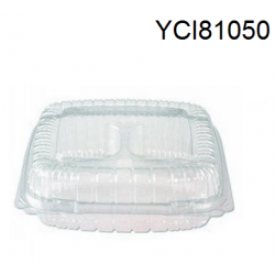 Salad Containers, Plastic, Hinged Lids, 5