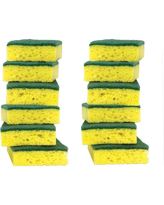 PURE KLEEN 12PK HEAVY DUTY SCRUBBING SPONGES