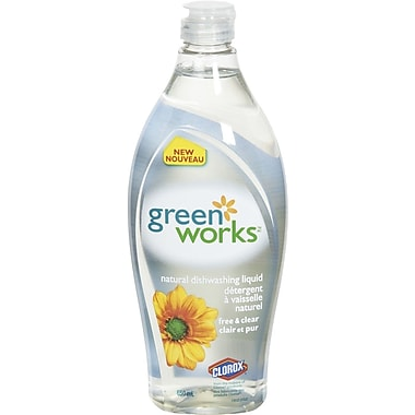 Green Works® Dishwashing Liquid, 650 mL, Free & Clear