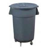 Waste Container - Flat Lid+Wheels