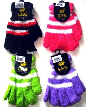 Children Stripe Gloves