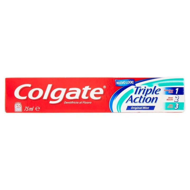 COLGATE TOOTHPASTE TRIPLE ACTION 75GRX24 IN A CASE.